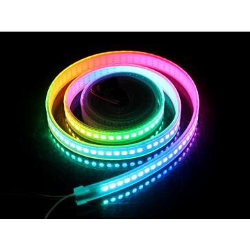 Tira flexible LED Digital RGB a prueba de agua 144 LED/metros a 2 metros