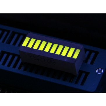 Segmento 10 LEDs - amarillo verde
