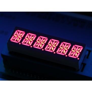LED de 14 segmentos 6 caracteres alfanumericos-rojo