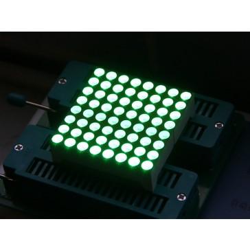 Matriz LED 38mm 8x8 -Verde