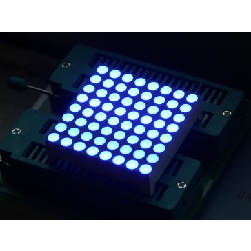 38mm 8x8 cuadrado matrix LED - Ánodo Común Azúl