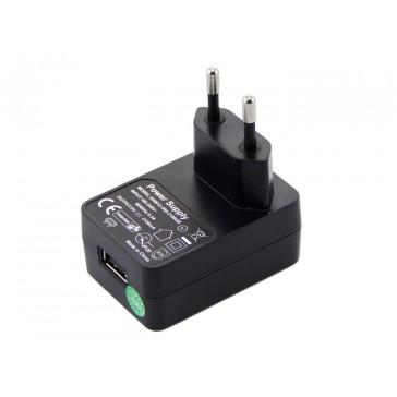 Enchufe Europeo Standard para USB, Fuente de Poder de 5VDC y 2.1 A. CE Intertek GS