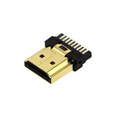 Conector HDMI macho expuesto