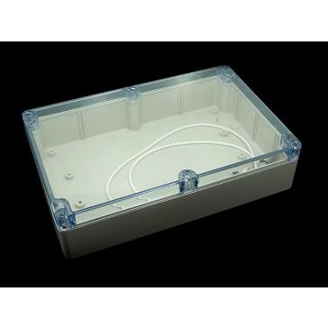 Caja plástica transparente 55x145x222 mm (A prueba de agua)