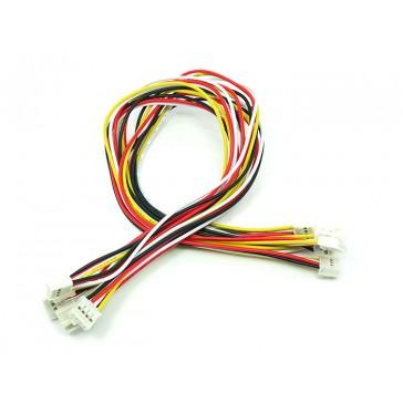 Cable de 4 pines universal, 30cm flexibles (Paquete de 5 piezas) - Grove