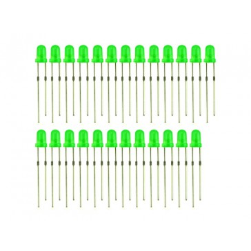 3mm LED Verde - 25 PCs