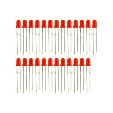 3mm LED Rojo - 25 PCs