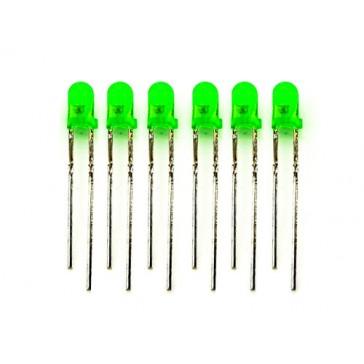 LED de 3mm verde - 100 unidades