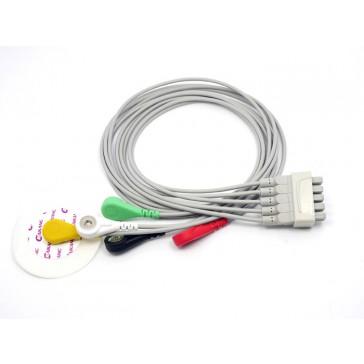 5 derivaciones ECG cable - Compatible Marquette
