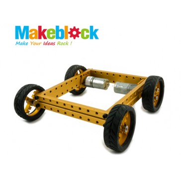 Kit de robot configurable Makeblock 4WD - Dorado