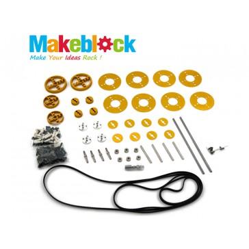 Kit de extensión de Bandas y Poleas de Sincronización MakeBlock – Dorado