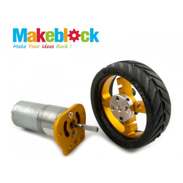 Kit de motor Makeblock 25mm- Dorado