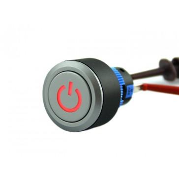 Botón de enclavamiento con logo de encendido y apagado