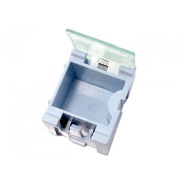 Caja de almacenamiento de componentes de tamaño pequeño - 5 unidades por lote - Azul