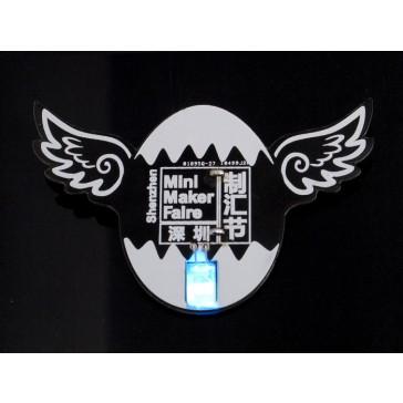 """Mini insignia Shenzhen """"Maker Faire"""""""