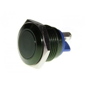 16mm botón de metal Push - Verde oscuro