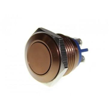 Boton push de metal café 16 mm