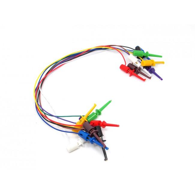 Cable para puentear con sondas en el extremo 8 piezas de for Cables telefonillo colores
