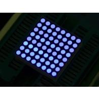 Matriz LED 32mm 8x8 Azul- Ánodo Común