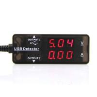 Detector de voltaje y corriente USB