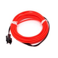 Cable Electroluminiscente Rojo - 3m