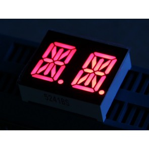 LED de 14 Segmentos Dual - Rojo 0.54 pulgadas