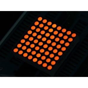 Matriz de LEDs cuadrada de 32mm 8x8 color ámbar - ánodo común