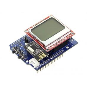 Sistema de monitoreo con pantalla LCD Nokia - Energy Motor Shield
