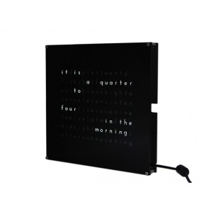 Clock THREEjr (with black faceplate)