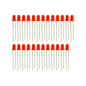3mm LED Rojo - 25 PCs