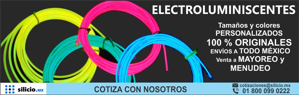 <h1>Electroluminiscentes</h1> Uso publicitario, compatible con arduino, envíos a todo méxico, descuento por mayoreo.